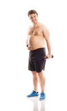 Fat fitness man Stock Photography
