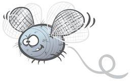 Fat fly. Cartoon illustration of a fat fly soaring stock illustration