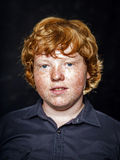Fat freckled boy portrait Royalty Free Stock Photos