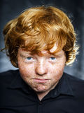 Fat freckled boy portrait Royalty Free Stock Image
