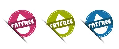 Fat Free Buttons - Vector Illustration - Isolated on White royalty free illustration