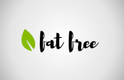 fat free green leaf handwritten text white background royalty free illustration