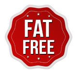 Fat free label or sticker Royalty Free Stock Photo