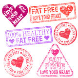 Fat Free Stamps Stock Photos
