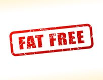 Fat free text buffered Stock Image