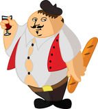 Fat Frenchman Royalty Free Stock Photos
