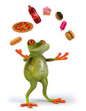 Fat Frog. Cute little frog , 3D generated royalty free illustration