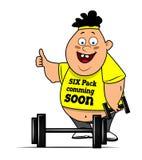 Fat funny boy Stock Photos