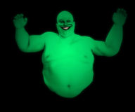 Fat Ghost. A very fat floating male ghost for Halloween Royalty Free Stock Images