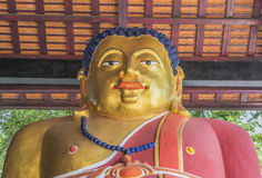 fat Golden Buddha Statue Royalty Free Stock Photos