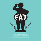 Fat Graphic Royalty Free Stock Photo