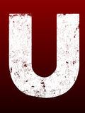 Fat Grunge Letters - U Stock Photo