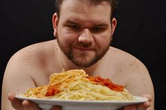 Fat guy Royalty Free Stock Photo