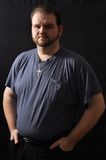 Fat guy. This picture represents a fat guy portrait Royalty Free Stock Images