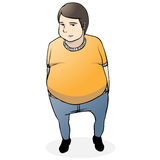 fat guy cartoon Royalty Free Stock Photos