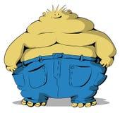Fat Guy. Cartoon, vector, horizontal, over white,  isolated Stock Photography