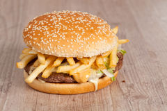 Fat hamburger sandwich Royalty Free Stock Image