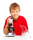 Microscope is fun to play and study Stock Photos
