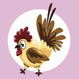 Fat Hen. Illustration of a fat hen on the background Royalty Free Stock Images