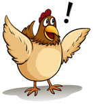 A fat hen Royalty Free Stock Photography