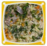 Fat hot rural pork ribs soup Royalty Free Stock Image