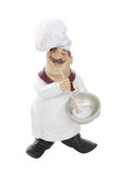 Fat Italian Chef Over White Royalty Free Stock Image