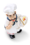 Fat Italian Chef Over White Royalty Free Stock Photos