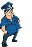 Fat jolly cartoon policeman Royalty Free Stock Photography