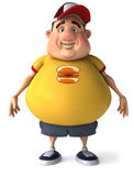 Fat kid. 3d generated picture of a big teenager Royalty Free Stock Photography