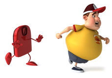 Fat kid. 3d generated picture of a big teenager Royalty Free Stock Images