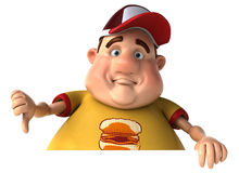 Fat kid Stock Image