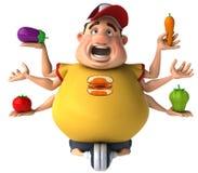 Fat kid Royalty Free Stock Image