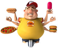 Fat kid Stock Image