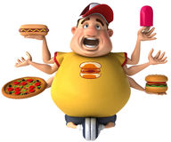 Fat kid. 3d generated picture of a big teenager Royalty Free Stock Image