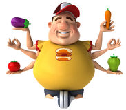 Fat kid. 3d generated picture of a big teenager Stock Photography
