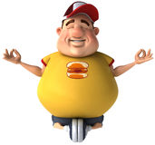 Fat kid. 3d generated picture of a big teenager Royalty Free Stock Photo