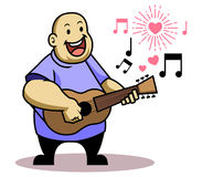 Fat Kid Sing Love Song Royalty Free Stock Photo