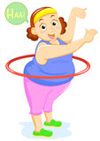 Fat lady. Aerobics dance Stock Photo