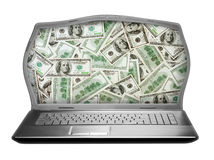 Fat laptop Stock Image