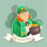 Fat Leprechauns guard the pot of gold Royalty Free Stock Photos