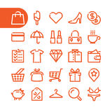 Fat Line Icons Stock Photos