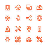 Fat Line Icons Royalty Free Stock Photography
