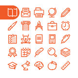 Fat Line Icons Stock Photography