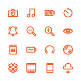 Fat Line Icons Royalty Free Stock Photos