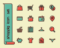 Fat Line Icons Royalty Free Stock Images