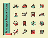 Fat Line Icons Stock Images