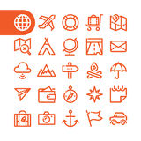 Fat Line Icons Stock Image