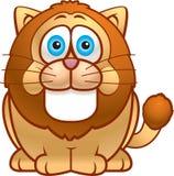 Fat Lion. A fat lion with mane smiling Stock Photos