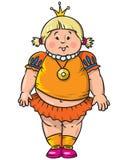 Fat little princess Stock Image