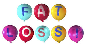 Fat loss. Word in abstract balloons Stock Photos